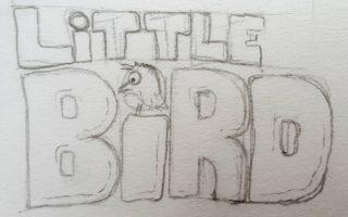 Logo rough pencil sketch